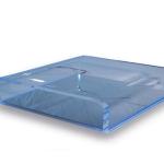 podoscoop plexiglas lage opstap blauw
